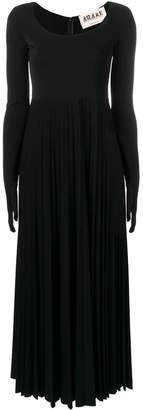 A.W.A.K.E. Mode gloved pleated dress