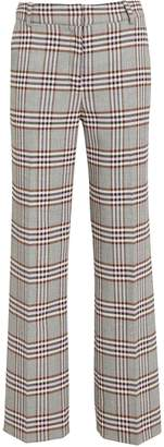 Derek Lam 10 Crosby Plaid Kick Flare Trousers