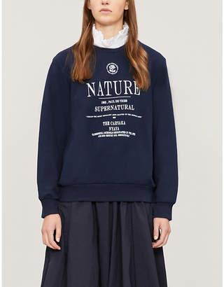 Izzue 'Nature' embroidered cotton-jersey sweatshirt