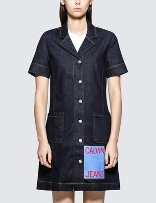Calvin Klein Jeans Waitress Logo Dress