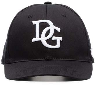 Dolce & Gabbana black and white logo baseball cap