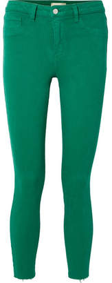 L'Agence Margot Cropped High-rise Skinny Jeans - Green