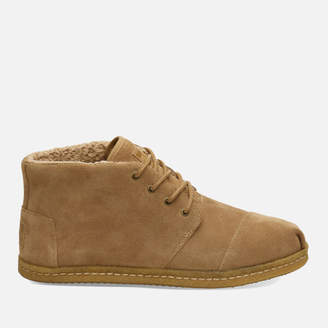 b5d232484d8 Toms Men s Bota Suede and Shearling Lace Up Boots - Toffee