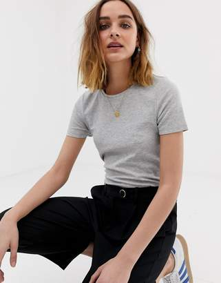Pieces ribbed t-shirt