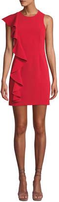 Cinq à Sept Kimberlin Sleeveless Crepe Ruffle Mini Dress