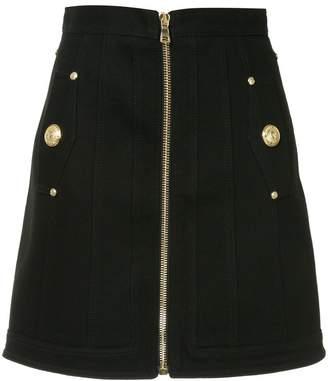 Balmain denim mini skirt