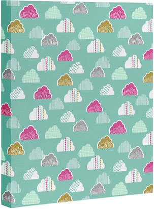 Deny Designs Wendy Kendall Petite Clouds Art Canvas