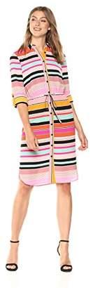 Adrianna Papell Women's Fiesta Stripe Shirt Dress