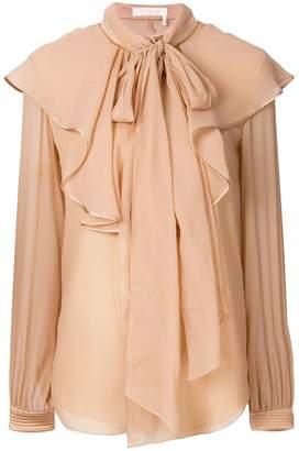 Chloé ruffled yoke blouse