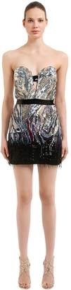Roberto Cavalli Sequined Tulle Mini Dress