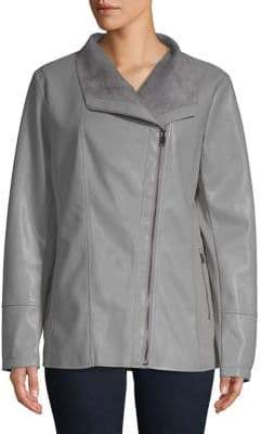 Gallery Classic Faux Leather Jacket