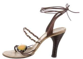 CNC Costume National Woven Leather Sandals