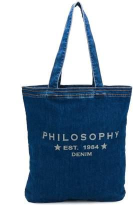 Philosophy di Lorenzo Serafini denim shopper tote