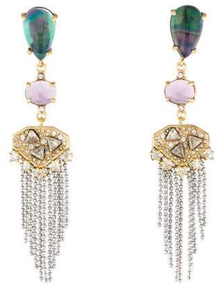Alexis Bittar Mother of Pearl Tassel Chandelier Fringe Earrings