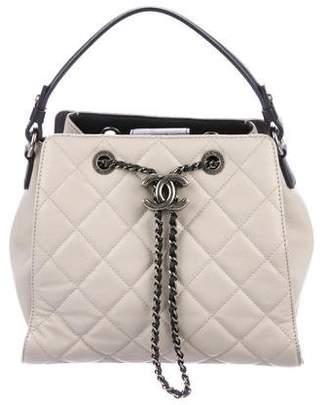 Chanel 2016 Chain Buckle Drawstring Bag
