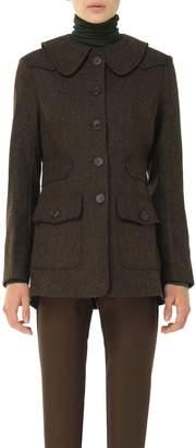Max Studio Heather Shetland Wool Herringbone Tailored Coat