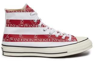 Converse x JW Anderson 'Chuck 70' asymmetric graphic logo grid print canvas sneakers