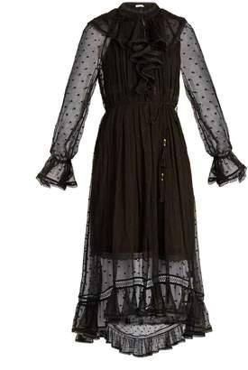 ZIMMERMANN Tulsi Dot crinkle silk-georgette dress $850 thestylecure.com