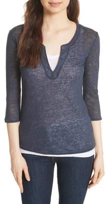 Majestic Double Layer Henley Top