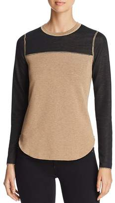 Three Dots Reversible Color-Block Sweater