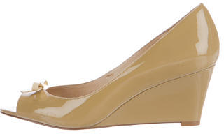 Kate SpadeKate Spade New York Patent Leather Bow Wedges