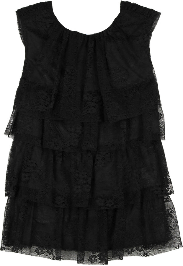 Anna Sui Tiered lace tank