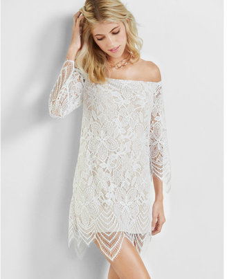 Express off the shoulder lace dress $79.90 thestylecure.com
