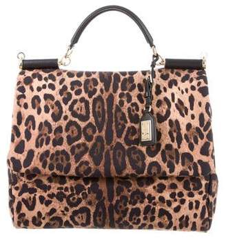 Dolce & Gabbana Leather-Trimmed Printed Bag