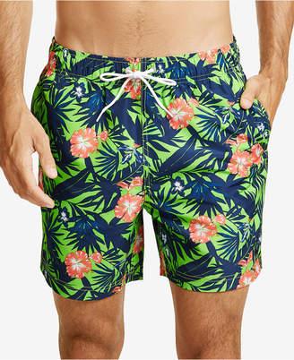"Nautica Men's Floral-Print 8"" Swim Shorts"
