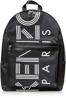 Kenzo Black Nylon Large Sport Backpack