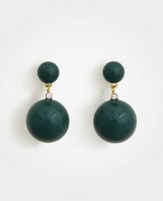 Ann Taylor Double Ball Drop Earrings