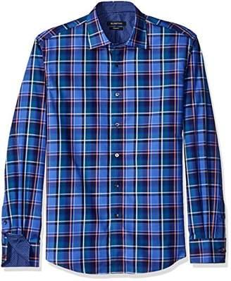 Bugatchi Men's Madras Button Down Shirt