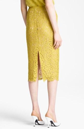 Michael Kors Floral Lace Pencil Skirt