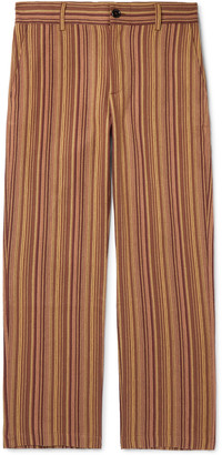 Séfr Mike Striped Cotton-Twill Trousers