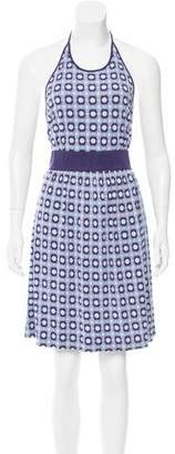 Tory Burch Abstract Print Silk Dress