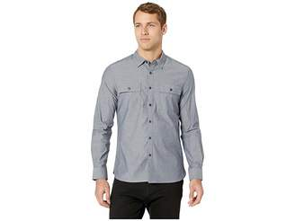 Kenneth Cole New York Long Sleeve Dynamic Two-Pocket Shirt - Chambray