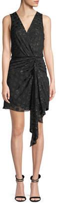 Ramy Brook Desiree Sleeveless Dot Applique Metallic Mini Dress