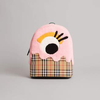 Burberry Monster Motif and Vintage Check Backpack