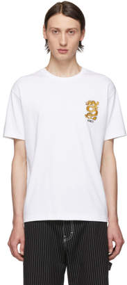 Kenzo White Limited Edition Embroidered Dragon T-Shirt