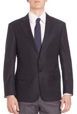 Giorgio Armani Solid Wool Blazer