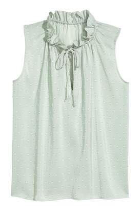H&M Sleeveless Top - Mint green - Women