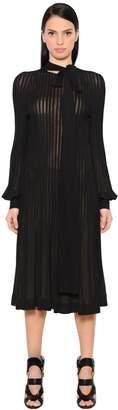 Antonio Berardi Pleated Crepe Jersey Midi Dress