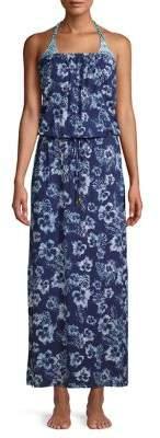 39f83eb160 Tommy Bahama Chambray Blossom Maxi Coverup Dress