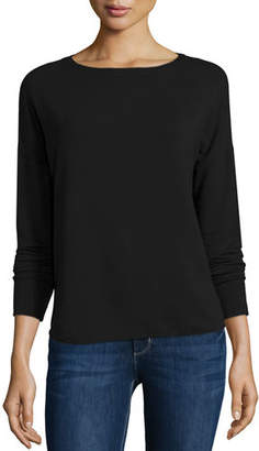 Neiman Marcus Majestic Paris for French Terry Long-Sleeve Top