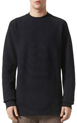 adidas Wings and Horns Double Waffle Knit Crewneck Long Sleeve Shirt