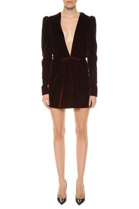 Saint Laurent Velvet Short Dress
