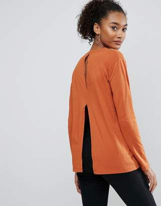 Asos T-Shirt with Split Back and Long Sleeve