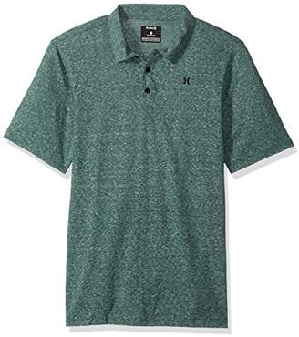 Hurley Men's Textured Three Button Short Sleeve Polo