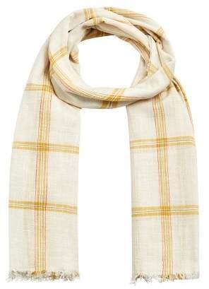 MANGO Check cotton scarf