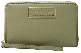 Marc By Marc Jacobs Too Hot To Handle Wingman Leather Wristlet
